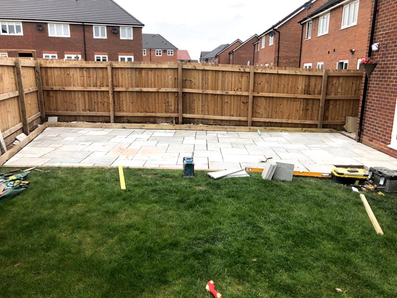 Indian Stone Patio Renovation